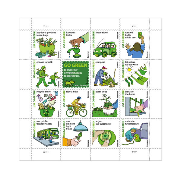 USPS.com Go Green stamps
