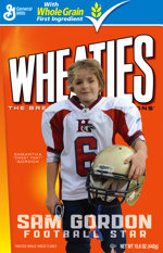 Sam Gordon Wheaties Box